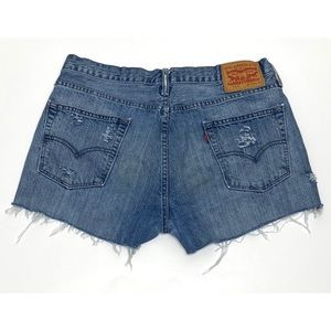 Levi's 514 High Rise Distressed Cutoff Jean Shorts